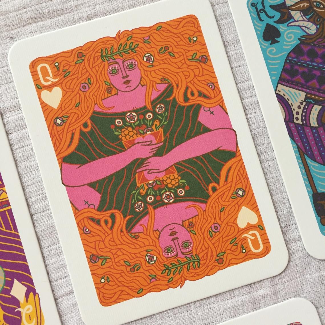 Queen of Hearts The Illuminated Tarot