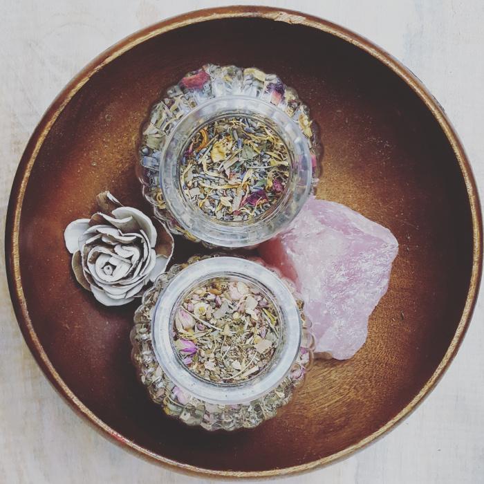 Loose Tea and Rose Quartz