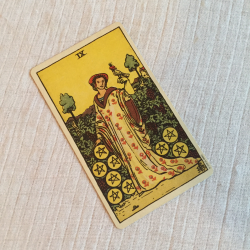 Nine of Pentacles RWS Centennial Tarot Deck